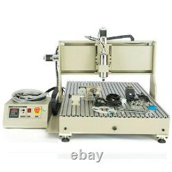 1500W VFD 4 Axis USB CNC 6090 Router Engraver Drill DIY Carving Cutter Machine