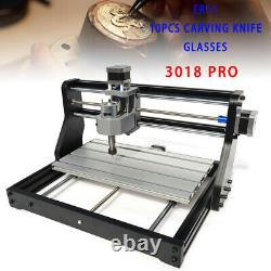 220V CNC 3018 PRO Machine Router 3axis Engraving PCB DIY Mill+2500mw Laser Head
