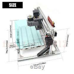 2-In-1 CNC Laser Engraving Machine PCB Carving Milling DIY 3 Axis CNC3018 +Vise