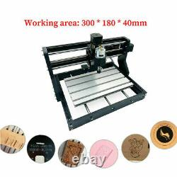 3018Pro CNC Laser Engraving Machine 3 Axis DIY Print Logo 3D Carved Wood Leather