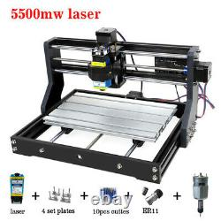 3018Pro CNC laser engraving machine 3 Axis DIY For Sculpture Wood Leather Metal