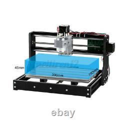 3018 Pro 3 Axis Mini DIY CNC Router Adjustable Speed Spindle Motor Wood Engravin