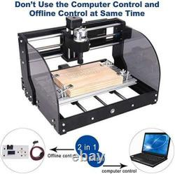 3018 Pro-M 2-in-1 Engraving Machine, DIY Mini CNC Wood Router, 3 Axis GRBL