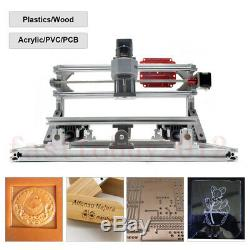 3Axis 2-In-1 3018 laser CNC Engraving Machine 500mW DIY Carving PCB Wood Milling