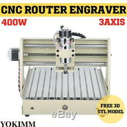 3 Axis 3040T Engraving Cutting Milling Machine CNC Engraver DIY 400W Router 220V