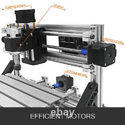 3 Axis CNC 2418 DIY Woodworking Laser Engraver Miller + 5500MW Laser Moudle Head