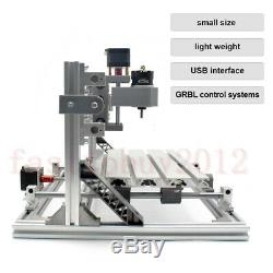 3 Axis Engraving Wood DIY Milling Carving Engraver CNC Router Kit 1610 Machine