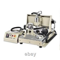 4Axis CNC 6040 Router Engraver USB 1500W Drilling Engraving DIY Machine
