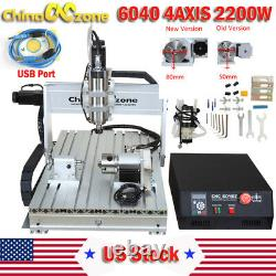 4 Axis CNC 6040 Engraver Mach3 USB Router DIY Cutting Milling Engraving Machine