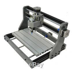 CNC3018 DIY CNC Router 2in 1 Laser Engraving Machine XYZ Axis Working Area ER11