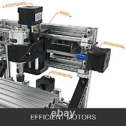 CNC 1610 3 Axis Router Kit 2500MW For Wood/PVC/Leather DIY Carving Milling US