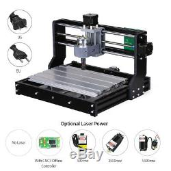 CNC 3018 5500mW Machine Router 3Axis Engraving DIY Milling Engraver Carving H1O5
