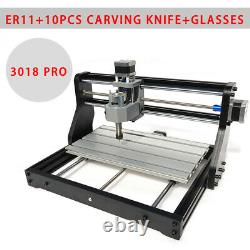 CNC 3018 PRO Machine Router 3Axis Engraving PCB Wood DIY Mill Laser Machine ER11
