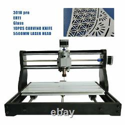 CNC 3018 PRO Machine Router 3 Axis Engraving+5500mw Laser PCB Wood Maker DIY