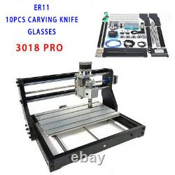DIY CNC 3018 PRO Machine Router 3axis Engraving PCB Metal Mill+2500mw Laser Head