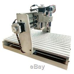 DIY USB 4 Axis CNC Router 3040 Engraver Wood Drill/Milling Machine ER11 400W+RC