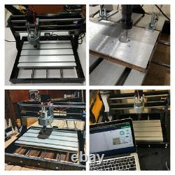 GRBL DIY 3 Axis PVC Milling Engraving Machine Router For Wood Leather Plastic US