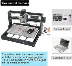 MYSWEETY DIY CNC 3018-PRO 3 Axis CNC Router Kit with 7000mW Full Size