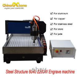 Steel Structure CNC 6040 3axis 2.2KW Router Engraver CNC Engraving DIY Machine