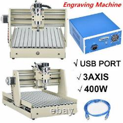 USB 3AXIS CNC3040 Router Engraver Wood Drill Mill DIY Machine 400W + Controller