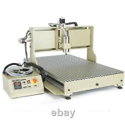 USB 4 Axis 1.5KWith2.2KW VFD 6090 CNC 3D Router Engraver DIY Carving Metal Machine