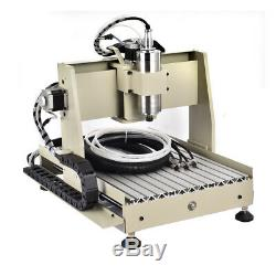 USB 4 Axis 400W VFD 3040 CNC Router Engraving Machine Mill DIY 3D Carving Cutter
