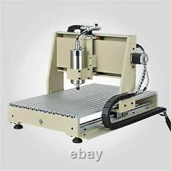 USB 4 Axis CNC 6040 Router Engraving Mill Machine VFD 3D DIY Cutting 1500W NEW